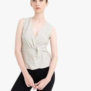 J. Crew 365 Knot Textured Sleeveless Top